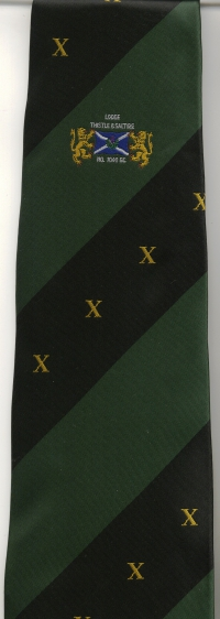 03 Lodge Thistle & Saltire 10th Anniversary Tie