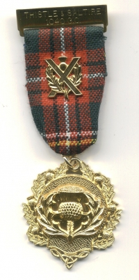 01 Lodge Thistle & Saltire Breast Jewel