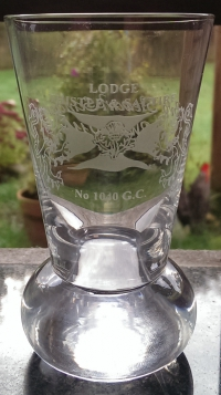 05 Lodge Thistle & Saltire Firing Glass