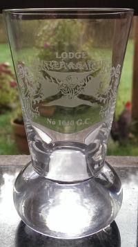 05 Lodge Thistle & Saltire Firing Glass