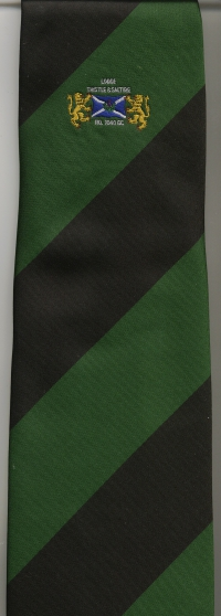 02 Lodge Thistle & Saltire Tie