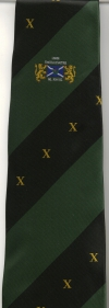 03 Lodge Thistle & Saltire 10th Anniversary Tie